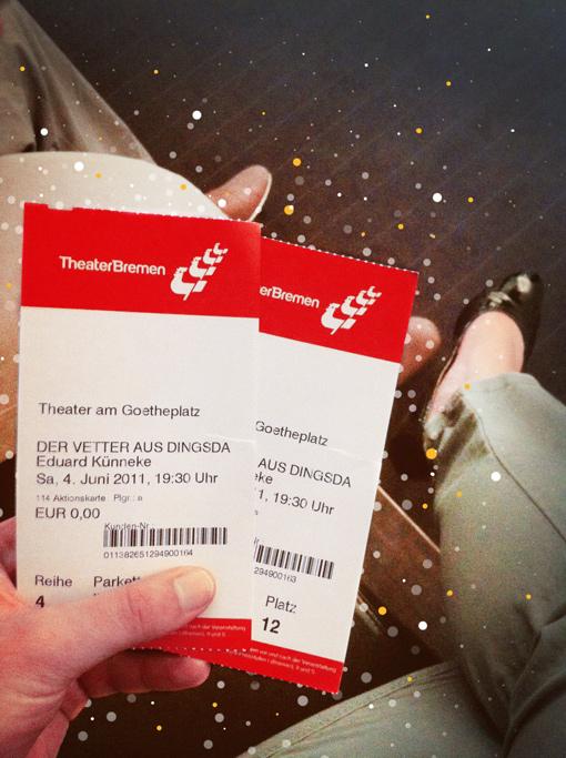 Eintrittskarten für »Der Vetter aus Dingsda« am Theater Bremen