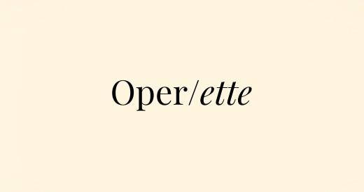 Operette Operngenres